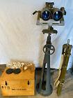 """RARE"" WW II Russian Novosibirsk Optical PNB-1,15X110 Rangefinder Binoculars"