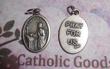 St. Saint Ignatius - Pray for Us - Italian Silver tone OX 1 inch Medal