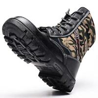 Mens Labor  Camo warm Steel toe Fur Lined work Ankle boots Labor Safety shoes