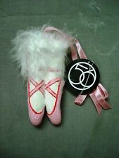 DEPT 56 NUTCRACKER SUITE PINK BALLET SLIPPERS ORNAMENT