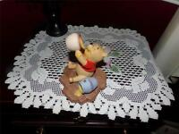 Disney Winnie the Pooh Pooh and Friends Life is Sweet Porcelain Sculpture