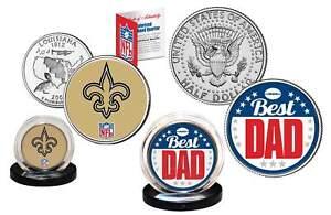 Best Dad - NEW ORLEANS SAINTS 2-Coin Set Quarter & JFK Half Dollar NFL LICENSED