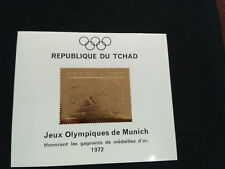 Chad 1972 Olympic Games Gold stamp  MS MICHEL BL25