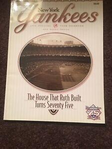 1998 NEW YORK YANKEES Yearbook 75th Anniversary YANKEE STADIUM NY Yanks 1923-98