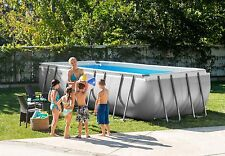 "9'x18'x52"" Intex 28351EH Rectangular Ultra Frame Above Ground Swimming Pool Kit"