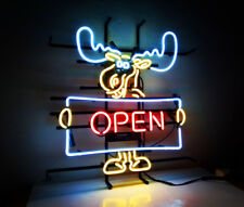 """OPEN"" Deer Boutique Restaurant Beer Bar Pub Decor Display Neon Sign Light"