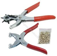 "9"" Revolving Leather Punch & Eyelet Plier Hole Heavy Duty Belt Plastic Puncher"