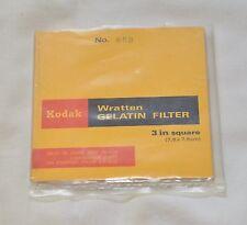 "KODAK WRATTEN 80B gelatina Filtro No. 7.6 CM x 7.6 cm (3"" quadrati) - MAI USATE"
