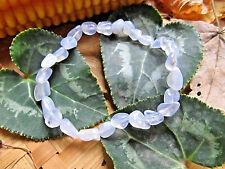 72-Bracelet Calcédoine bleue perles 6/10mm-Blue lace agate-Joie-Bonheur