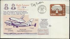 2/28/77 Shuttle Test Flight Edwards AFB Cover Autographed by Pilot Fitz Fulton