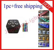1pc 6*18W RGBWAUV 6 in 1 Wireless DMX512 IR Battery Power Led Par Free Shipping