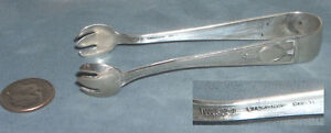 Antique Wallace Carthage Sterling Sugar Tongs Pat 1917