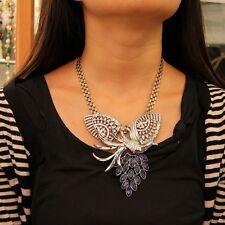 Collier Femme Phoenix Strass Bleu Moderne Origina Mariage Cadeau LL 1