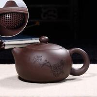 yixing tea pot old purple grit xishi pot ball infuser holes handmade zisha pots