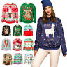 Ugly Christmas Sweater Funny Crew Neck Pullover Sweatshirt Unisex Christmas Gift
