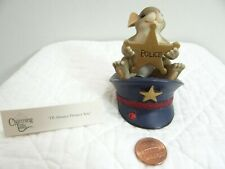 Charming Tails I'll Always Protect You Mouse Figurine Police Hat Badge 89/149