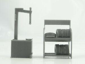 Diorama Parts Auto Service Equipment in Scale 1:43 Car Service Tools Unpainted