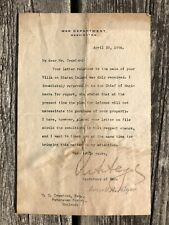 Russell A. Alger Typed Letter Signed  McKinley Secretary of War Spanish-American