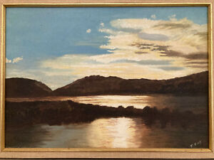 Narrabeen Lake Oil Painting