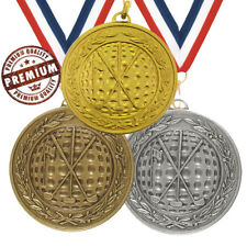 GOLF MEDAL 50mm EMBOSSED TOP QUALITY, WITH FREE RIBBON, GOLD SILVER BRONZE