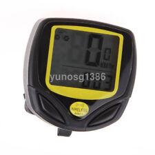 Waterproof Wireless Cycling Bike Computer LCD Bicycle Speedometer Odometer UK