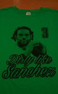 Eagles Dirty Like Sanchez shirt Mark XL double sided nfl 3 Dallas Cowboys