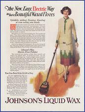 Vintage 1926 JOHNSON'S Liquid Wax Floor Polisher Andrew Loomis Art 20's Print Ad