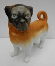 German Porcelain Figure Pug Dog Possibly Schmidt & Co Continental 2