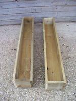 2 x Tanalised Wooden Garden Planter, Wood Window Box, Patio Planter