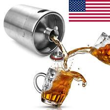 2L Homebrew Growler Mini Keg Stainless Steel Beer Home Brewing Making Bar Tool