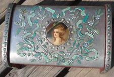 -Boite Coffret de Dame Style Louis XVI à Monogramme GM