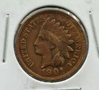 1901 Indian Head Cent Penny Coin XF / AU