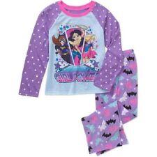Girls DC Comics Super Hero Girls 2pc Pajamas Set New with Tags Size 7/8 HTF New