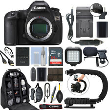 Canon EOS 5DS 50.6 MP Full-Frame Digital SLR Camera Body + 64GB Pro Video Kit