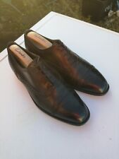 BALLY Mens 100% Leather, Black Lace-up Oxford Brogues UK 9.5 E (43.5).