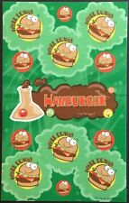 Dr. Stinky's Scratch & Sniff Stickers - Hamburger - Mint Condition!!