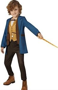 NEWT SCAMANDER DELUXE COSTUME Age 5-6 Fantastic Beasts New With Wand