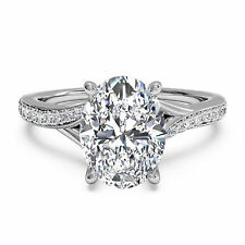 1.25ct Diamond Engagement Rings Fine 14kt White Gold Oval Cut Size P M L N