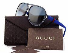 RARE Authentic GUCCI Matte Blue Gradient Mens Aviator Sunglasses GG 1065/S 4UVJJ