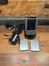 Dell Axim X5 Hc01U Silver Pda Palm Pilot Pocket Pc w/charging dock & 2 batteries