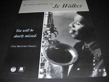 JR. WALKER In Fond Memory Of... from MOTOWN original 1995 PROMO DISPLAY AD