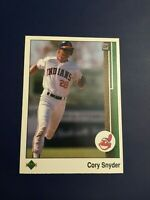 1989 Upper Deck # 170 CORY SNYDER Cleveland Indians Baseball Card Nice LOOK !