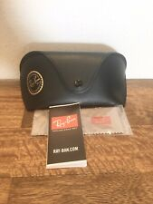New Ray-Ban Leather Case with Booklet and Cleaning Cloth