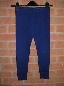 NIKE Girls Blue Leggings Sports Dance Running Gym Age 8-9 134cm
