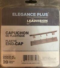 20 PC DECKING ELEGANCE PLUS LEADVISION PLASTIC END CAPS CHOCOLATE COMPOSITE WOOD