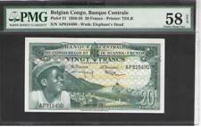 BELGIAN CONGO  20 Francs 1956/59   P. 31  AU   Prefix : AP   PMG