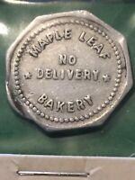 Vintage Token, Maple Leaf Bakery, Good For 1 Loaf Of Bread Coin Token T9