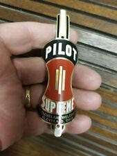 Pilot Supreme Apple Core Bike Badge Headtube Emblem Acid Etched Brass