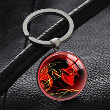 Hot The Flash Avengers Marvel Keyring Superhero Keychains Silver Key Chain Ring