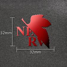 1PC Hot Anime Evangelion EVA Red 3D Cheap Metal Sticker For Phone Laptop PC